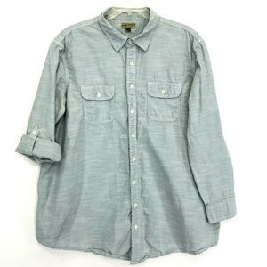 Sonoma Shirt Mens Sz 2XB BIG Blue Green Button Up
